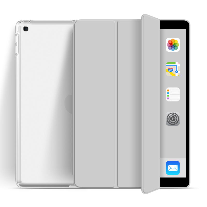 2020 New Trifold Transparent Soft TPU With Clear Back Cover For iPad Air4 10.9 Case