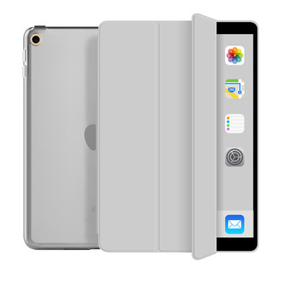 Trifold Hard PC And Soft Edge With Transparent Back Tablet Case For iPad Mini5 2019