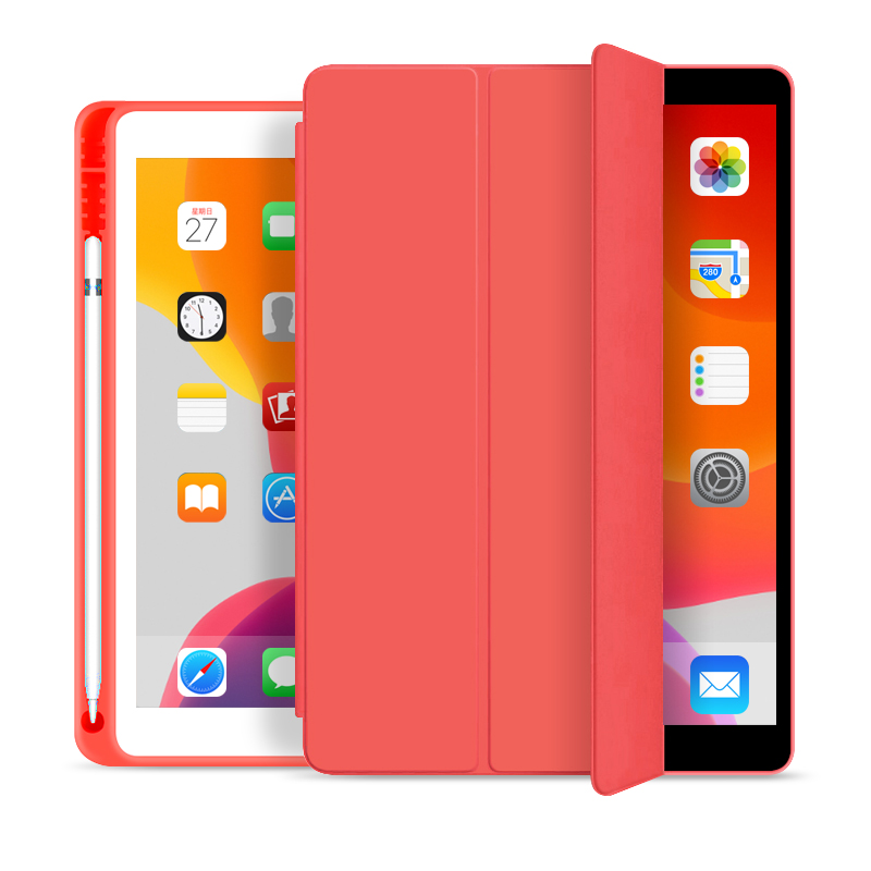 Tablet Case With Apple Pencil Holder Soft Cover For iPad 10.2 2019 2020