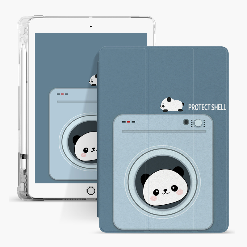 Transparent Air Sac Pencil Cartoon Kids Custom Case for Apple iPad Mini 5 Cover
