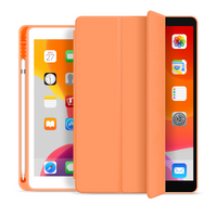 Trifold Soft TPU Slim Tablet Case With Pencil Holder Cover For iPad 9.7 2017 2018